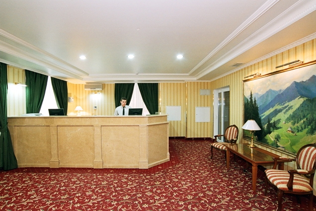reception hotel vodospad